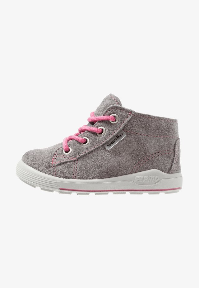 ZAYNI - Baby shoes - graphit/rosa
