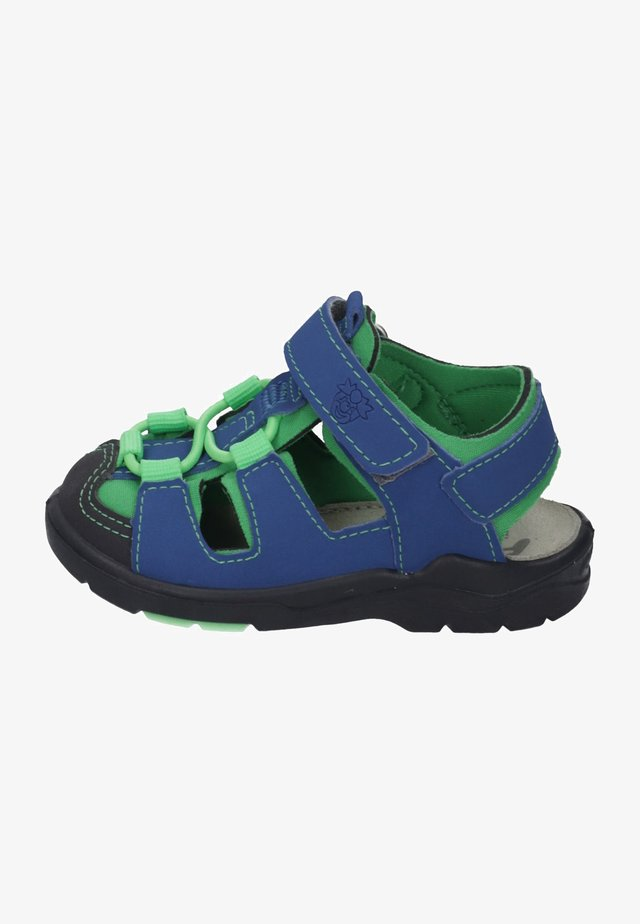 Baby shoes - azure/neongreen
