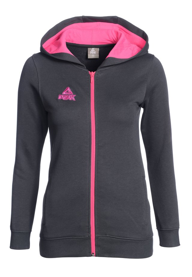 Zip-up hoodie - grau pink