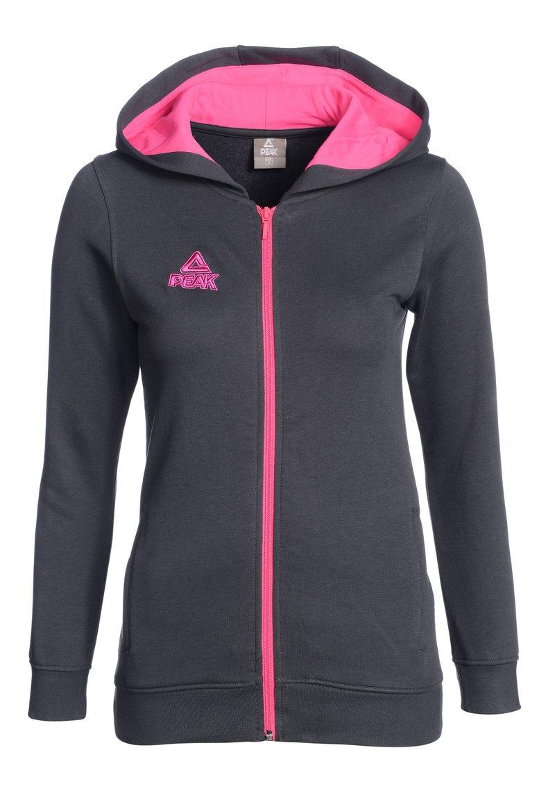 PEAK - Zip-up hoodie - grau pink
