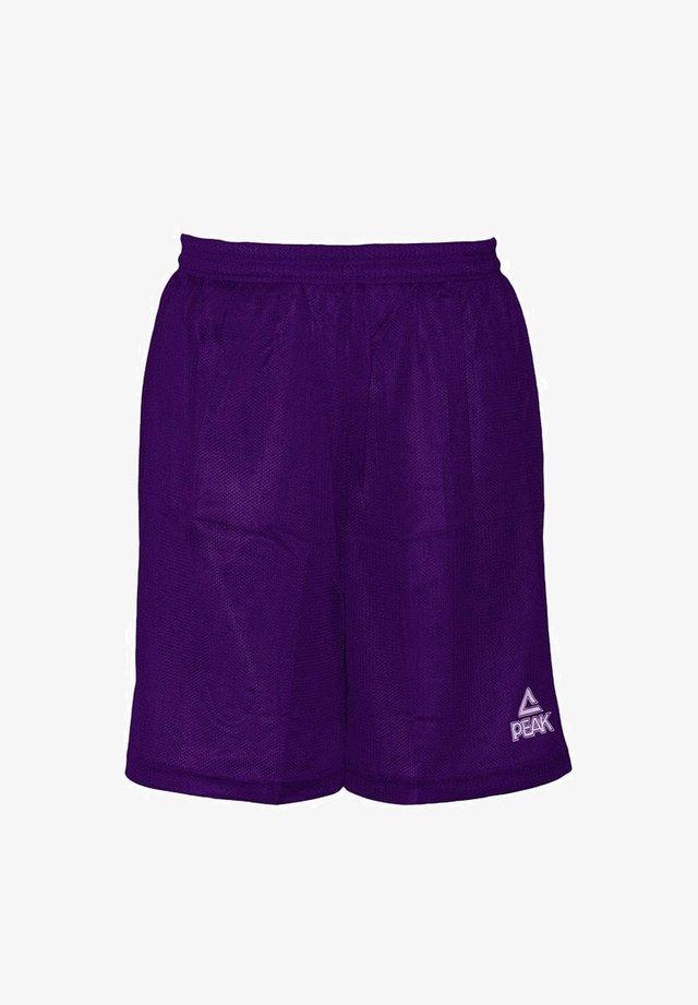 Sports shorts - lila - weiß