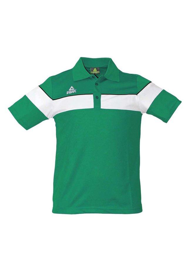 Polo shirt - vert-blanc
