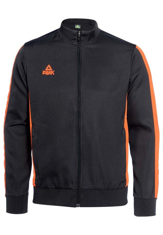 Training jacket - noir-orange