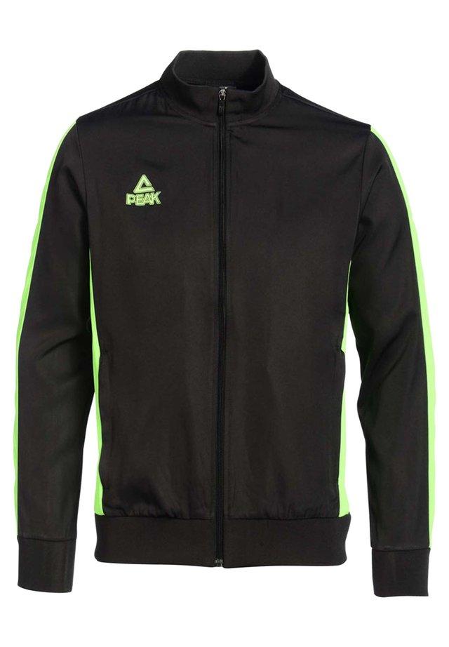 Veste de survêtement - noir-vert