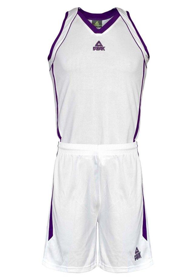 Sports shorts - blanc-violet