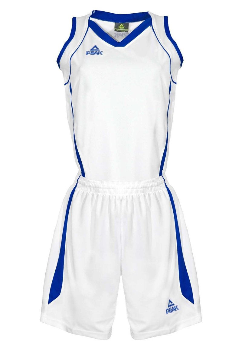 PEAK - Sports shorts - blanc-bleu