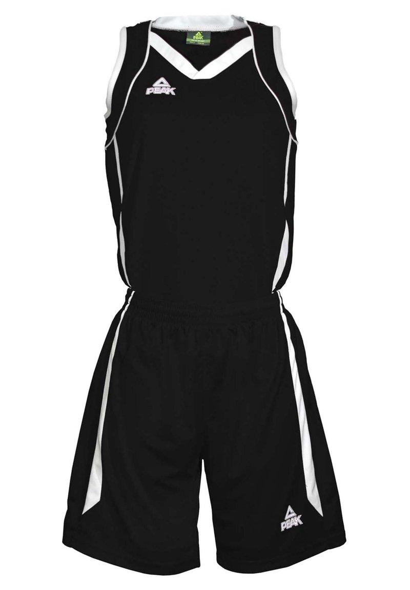 PEAK - Sports shorts - noir-blanc