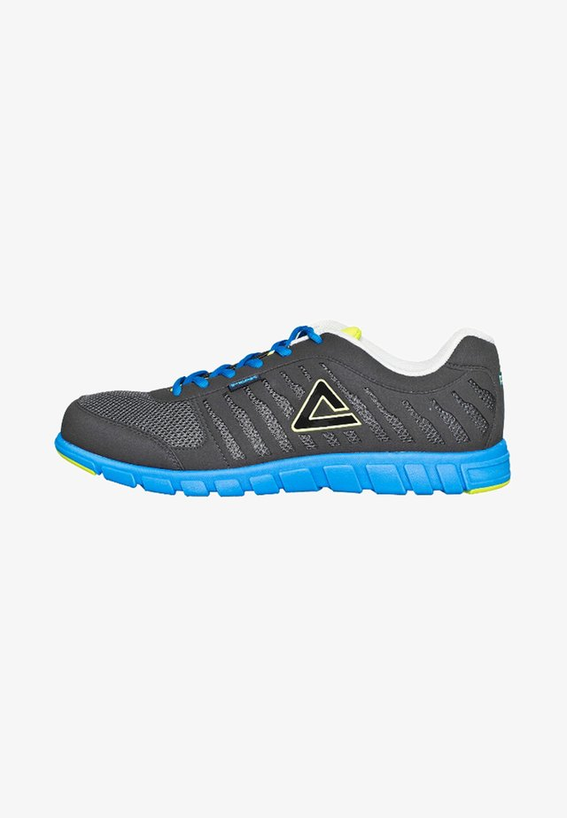 STRIDES - Sports shoes - grey/blue/lime