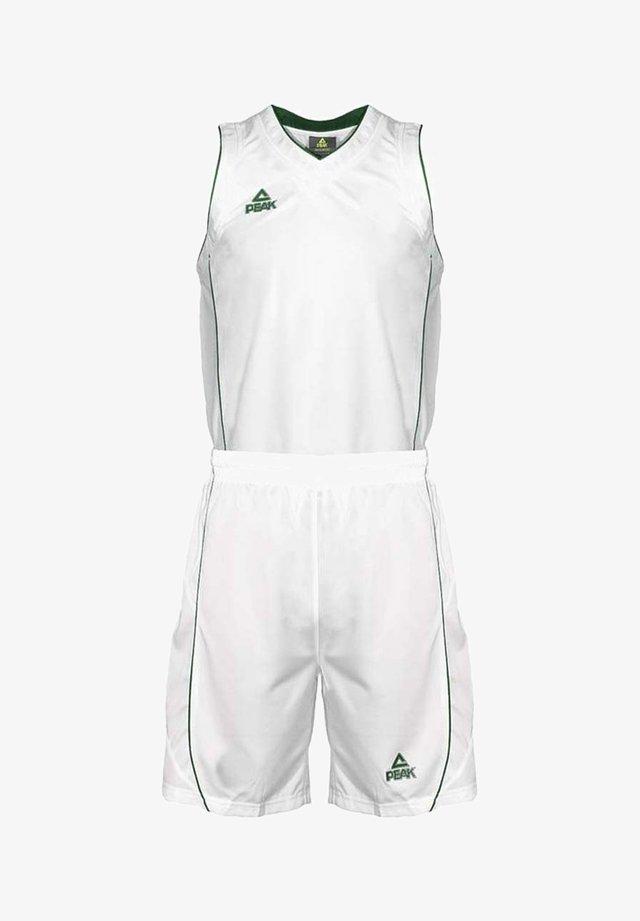TRIKOT-SET - Short de sport - white-forestgreen