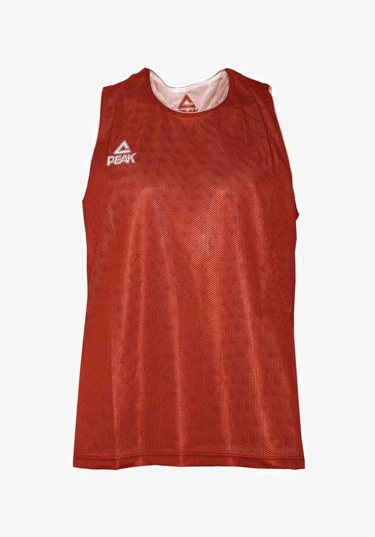PEAK - Sports shirt - rouge-blanc