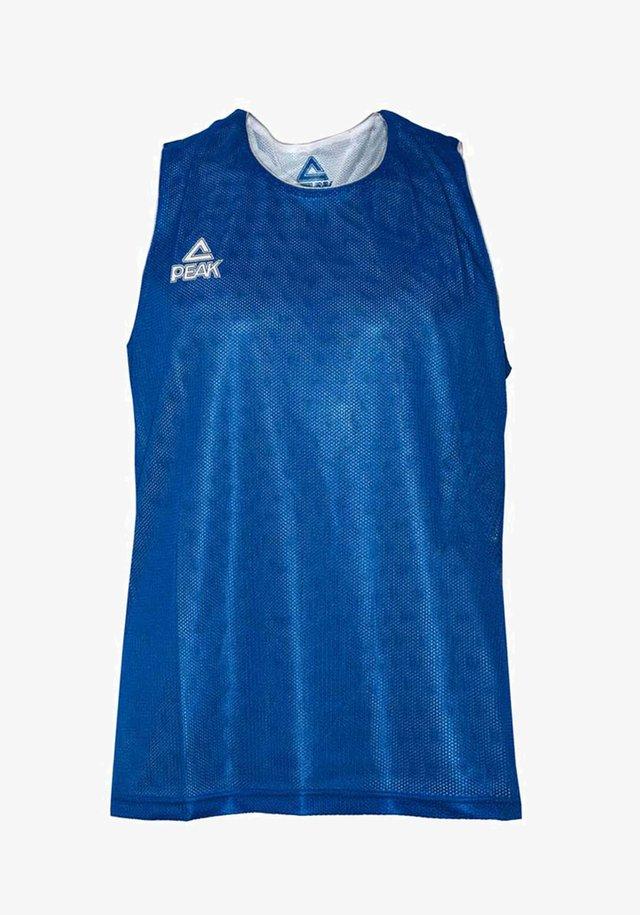 Sports shirt - blauw-wit