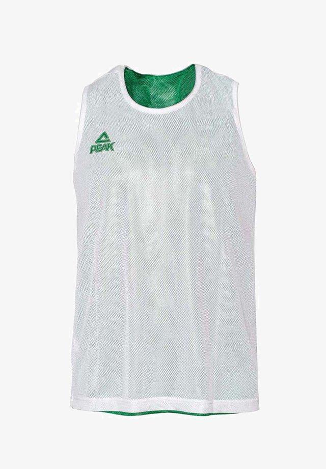 Sports shirt - vert-blanc