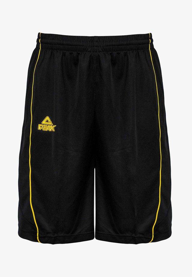 Sports shorts - schwarz/gelb