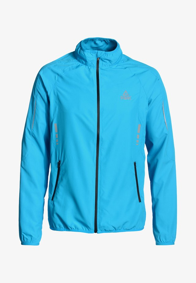 MIT HOCHABSCHLIESSENDEM KRAGEN - Training jacket - blue