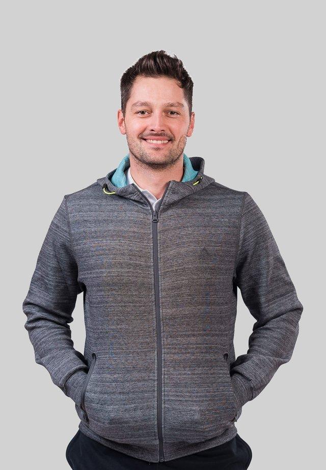 Zip-up hoodie - gris foncé