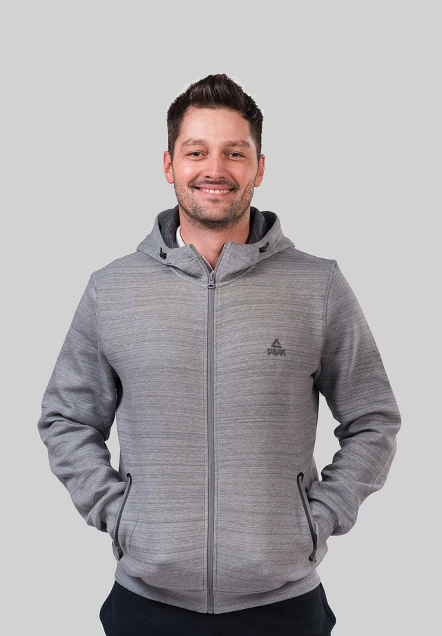 Zip-up hoodie - gris clair