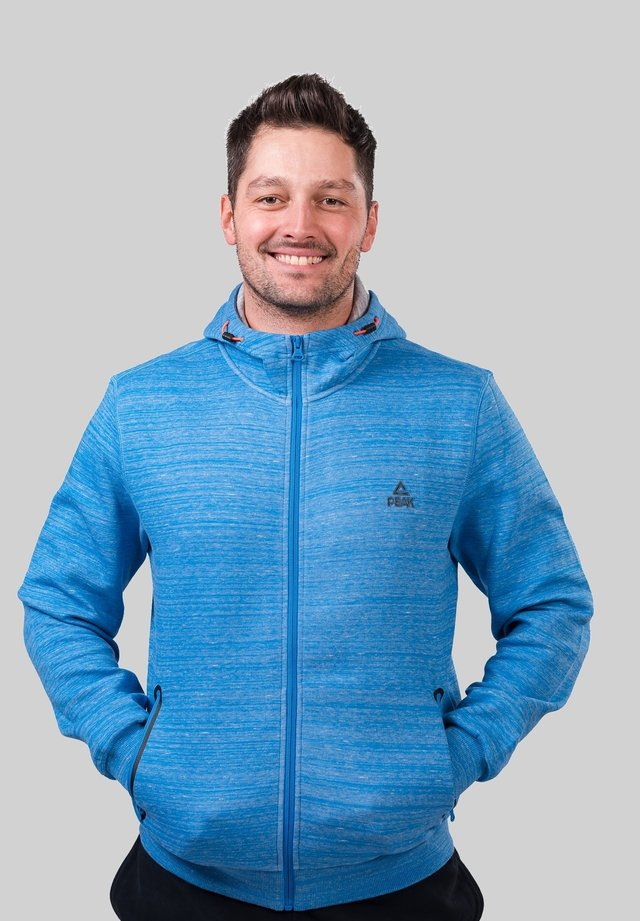 Zip-up hoodie - bleu