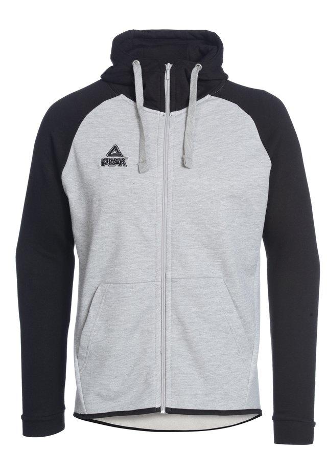 Zip-up hoodie - grau schwarz