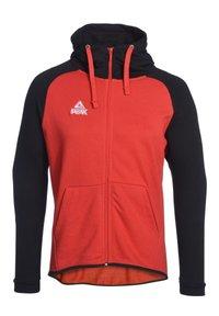 PEAK - Zip-up hoodie - rot schwarz - 0