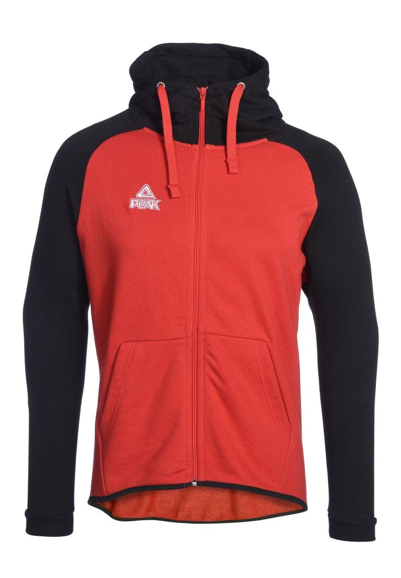 PEAK - Zip-up hoodie - rot schwarz