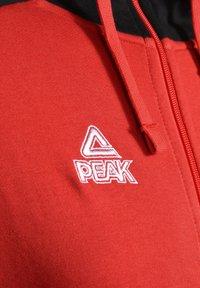 PEAK - Zip-up hoodie - rot schwarz - 2