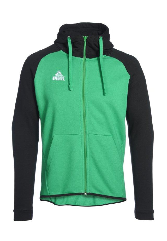 Zip-up hoodie - grün schwarz