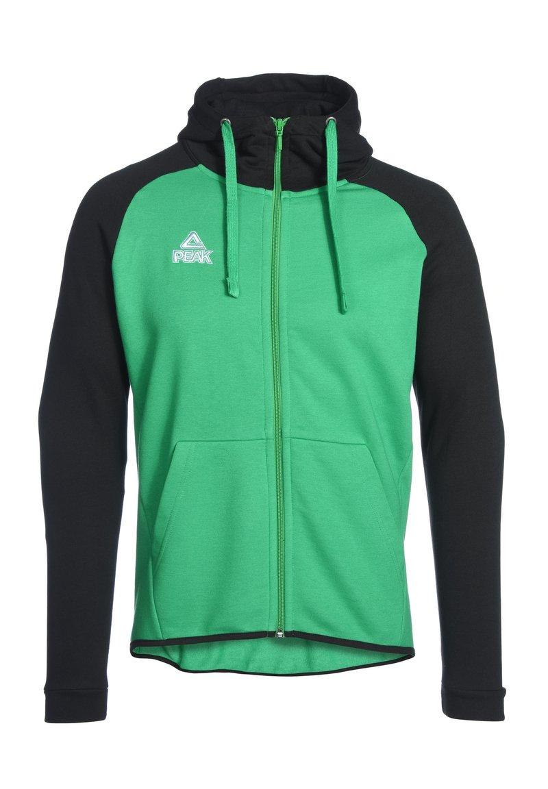 PEAK - Zip-up hoodie - grün schwarz