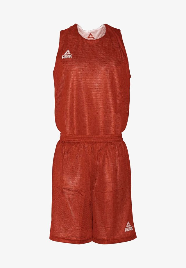 MIT ATMUNGSAKTIVER FUNKTION - Sports shorts - red/white