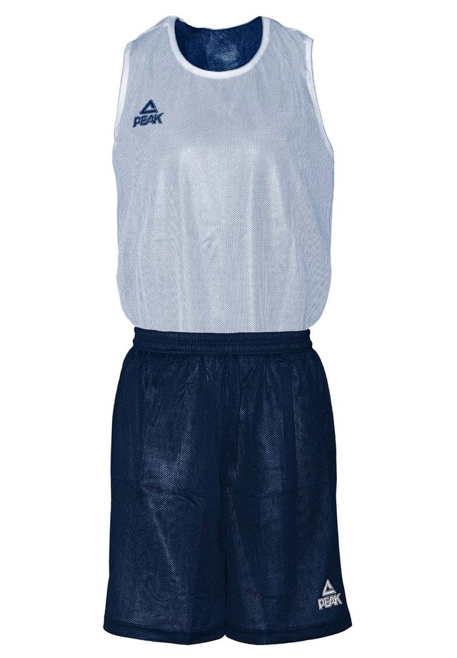 MIT ATMUNGSAKTIVER FUNKTION - Sports shorts - navy-white