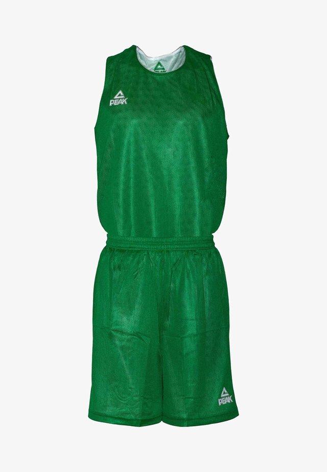 MIT ATMUNGSAKTIVER FUNKTION - Sports shorts - green/white