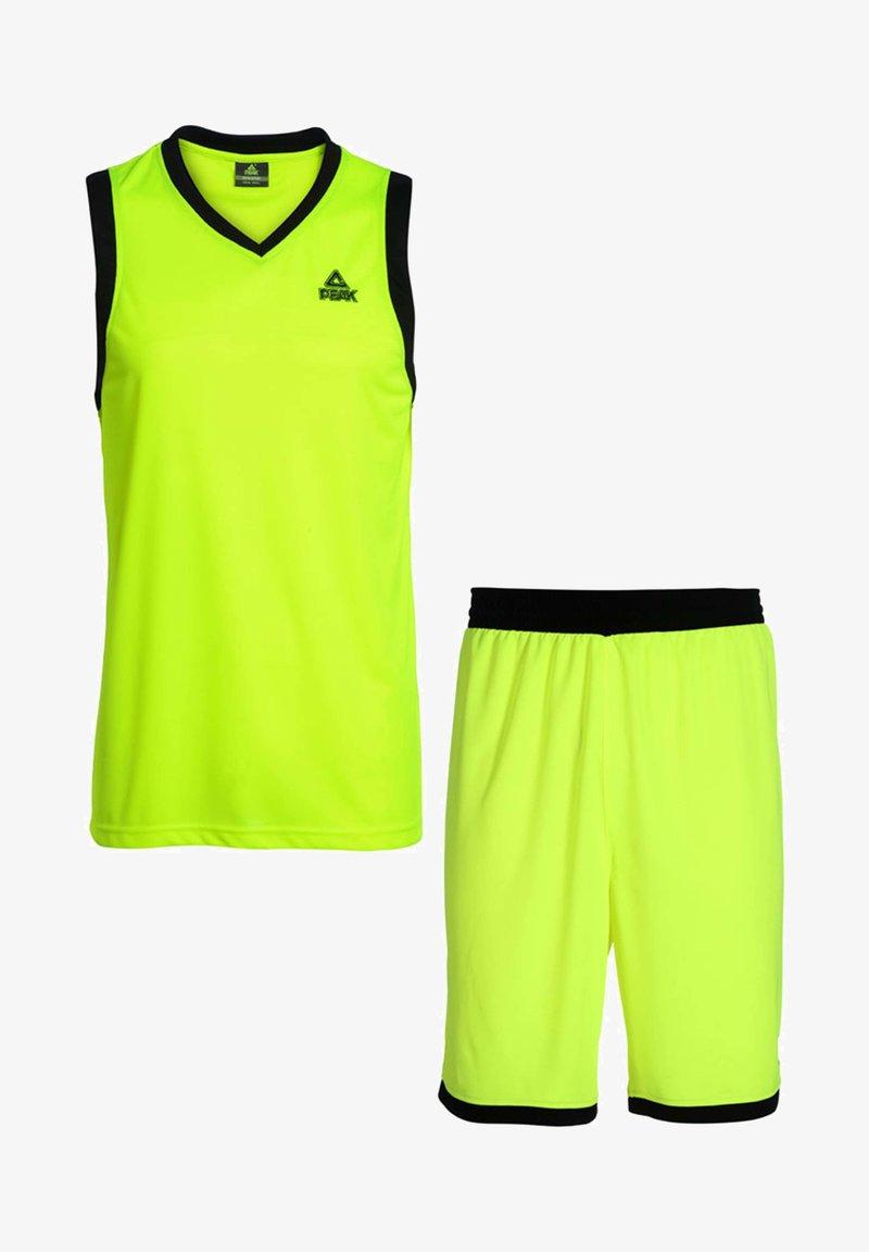PEAK - SET  - Sports shorts - neon-schwarz