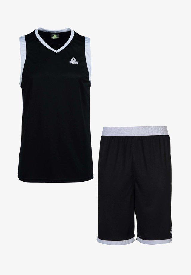 SET  - Sports shorts - schwarz-silber