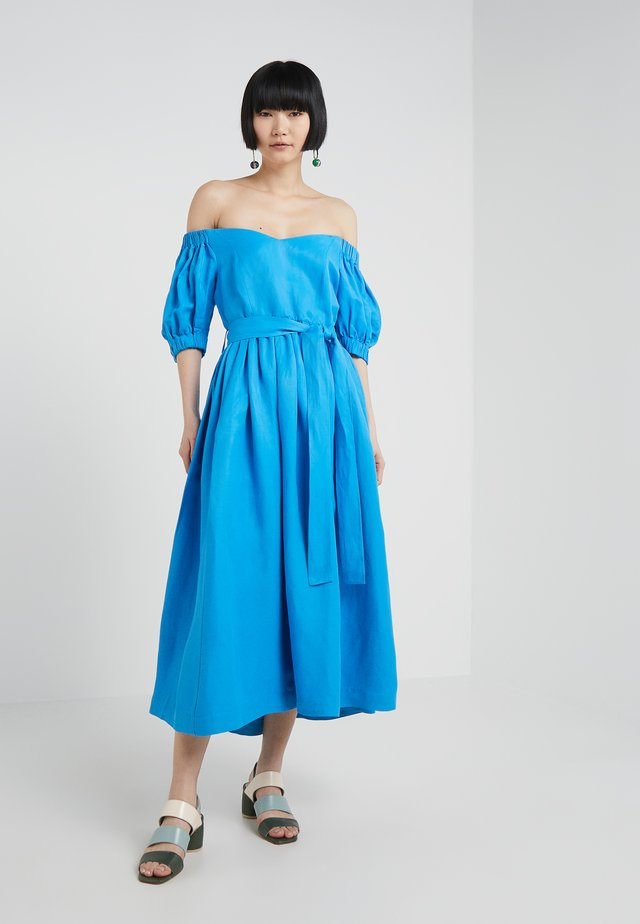 OFF THE SHOULDER MIDI DRESS - Maxikleid - azure