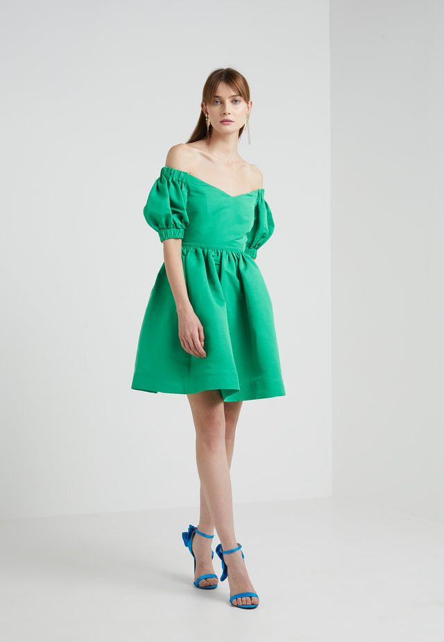 OTTOMAN OFF THE SHOULDER MINI DRESS - Day dress - kelly green
