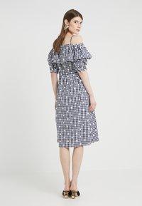 PERSEVERANCE LONDON - OFF THE SHOULDER DRESS - Day dress - dark blue - 2