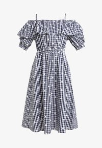 PERSEVERANCE LONDON - OFF THE SHOULDER DRESS - Day dress - dark blue - 5