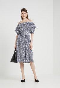 PERSEVERANCE LONDON - OFF THE SHOULDER DRESS - Day dress - dark blue - 1