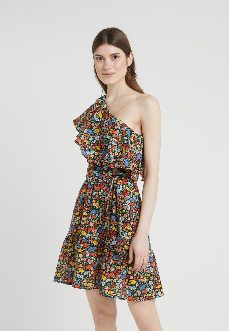 PERSEVERANCE LONDON - POPPY LIBERTY ONE SHOULDER RUFFLED DRESS - Freizeitkleid - multicolor