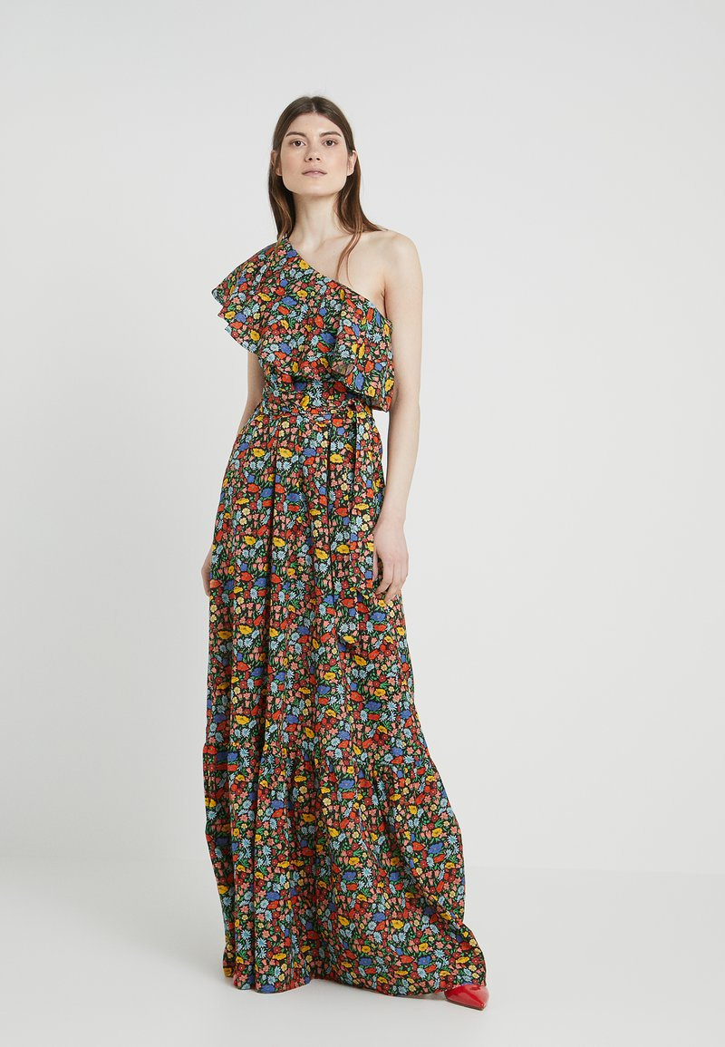 PERSEVERANCE LONDON - POPPY LIBERTY ONE SHOULDER RUFFLED GOWN - Maxikleid - multicolor