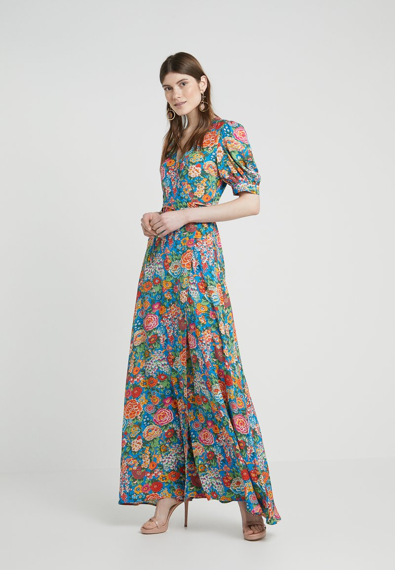 PERSEVERANCE LONDON - ELYSIAN DAY LIBERTY PRINT WRAP GOWN - Maxikleid - multi-coloured