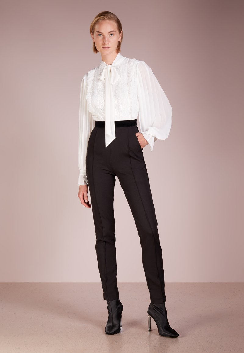 PERSEVERANCE LONDON - DOILY TIE NECK PLEAT SLEEVED  - Jumpsuit - offwhite/black