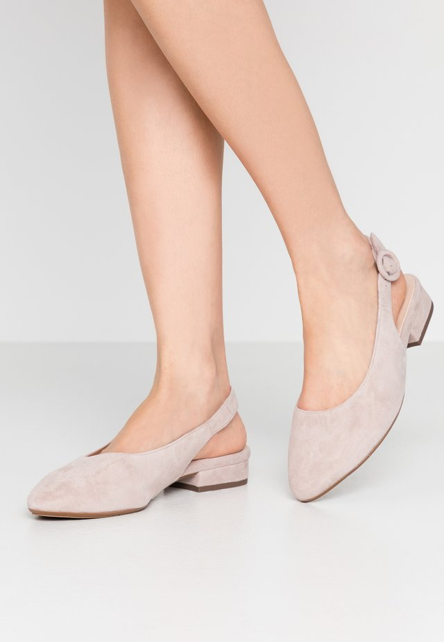 WIDE FIT FASELLE - Slingback ballet pumps - mauve