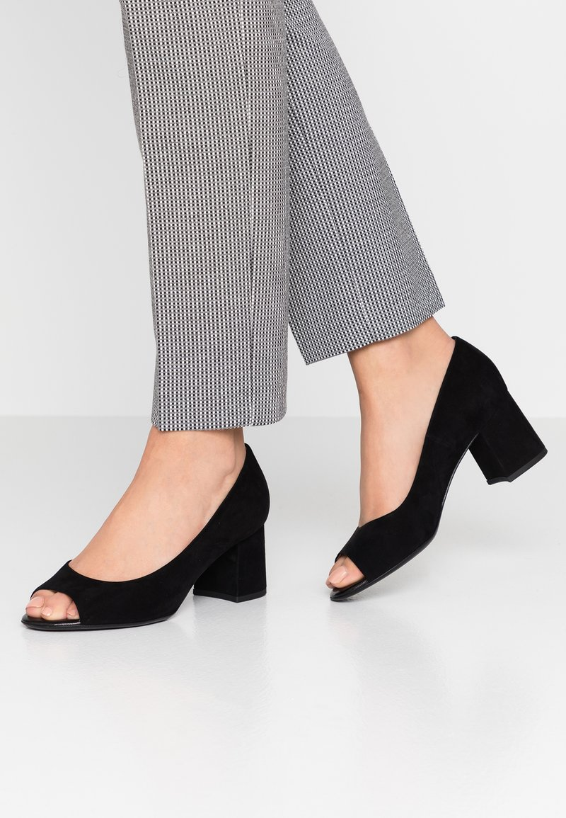 Peter Kaiser Wide Fit - WIDE FIT FRONA - Peep toes - schwarz