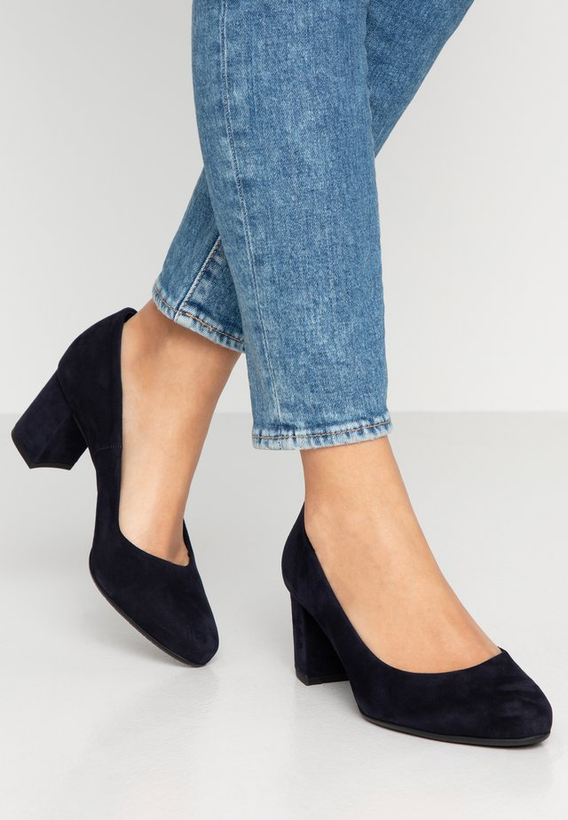 WIDE FIT WINA - Klassiske pumps - navy
