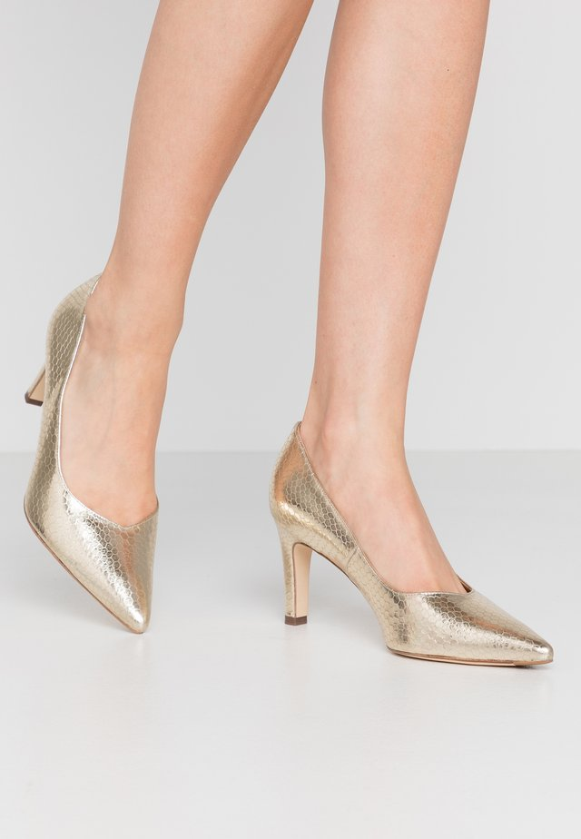 WIDE FIT TELSE - Classic heels - platin corona