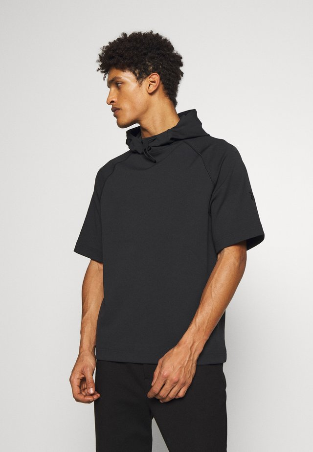 EXTENDED SHORTSLEEVE HOOD - T-shirts med print - black