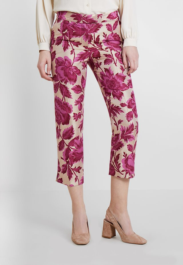 FLORAL TROUSERS - Trousers - pinks