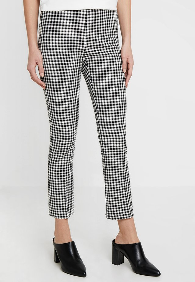 GINGHAM CHECK TROUSER - Trousers - black
