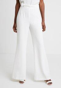 Pedro del Hierro - FLOWINGTROUSER - Trousers - white - 0