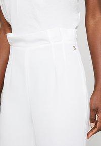 Pedro del Hierro - FLOWINGTROUSER - Trousers - white - 4